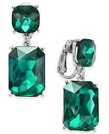 Two Stone Drop Clip-On Earrings, Created For Macy's