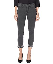 Sheri Tummy Control Cropped Embellished Jeans