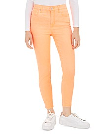 Juniors' Neon Colored-Wash Skinny Ankle Jeans