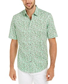 Men's Classic-Fit Lizard-Print Shirt, Created For Macy's