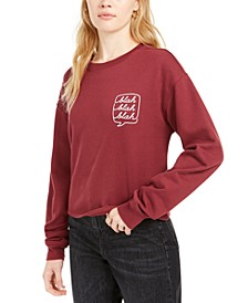 Juniors' Blah Blah Cropped Graphic Sweatshirt