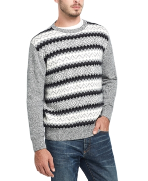 60s 70s Men's Jackets & Sweaters Weatherproof Vintage Mens Fair Isle Ski Sweater $24.93 AT vintagedancer.com