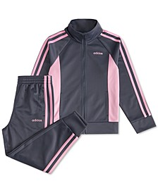 Little Girls 2-Pc. Colorblocked Jacket & Pants Tricot Track Set