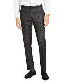 Men's Charcoal Tonal Animal Print Pants
