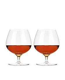 Wingback Brandy Glasses