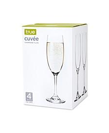 True Cuvee Set of 4 Champagne Flutes