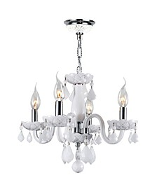 Clarion 4-Light Chrome Finish and Crystal Chandelier