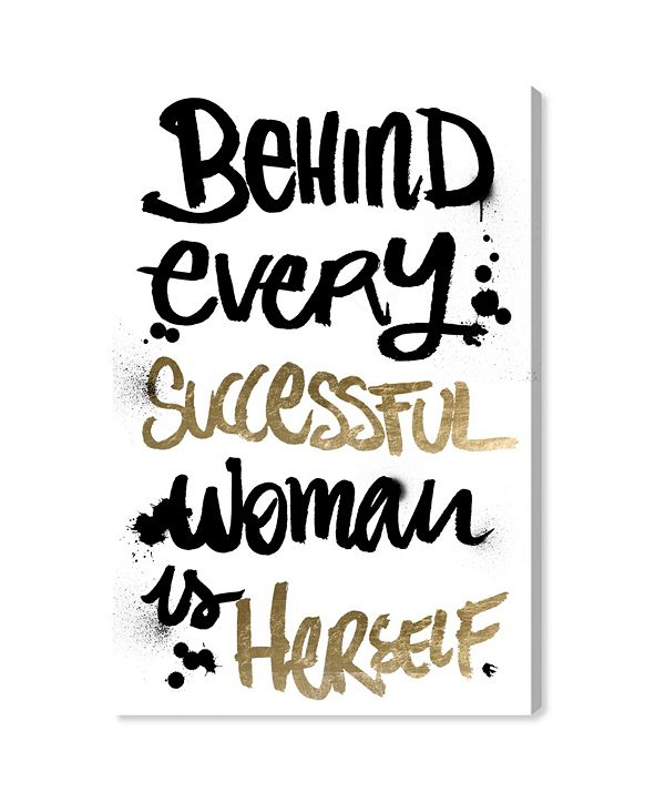 """Oliver Gal Successful Woman Canvas Art, 16"""" x 24"""""""