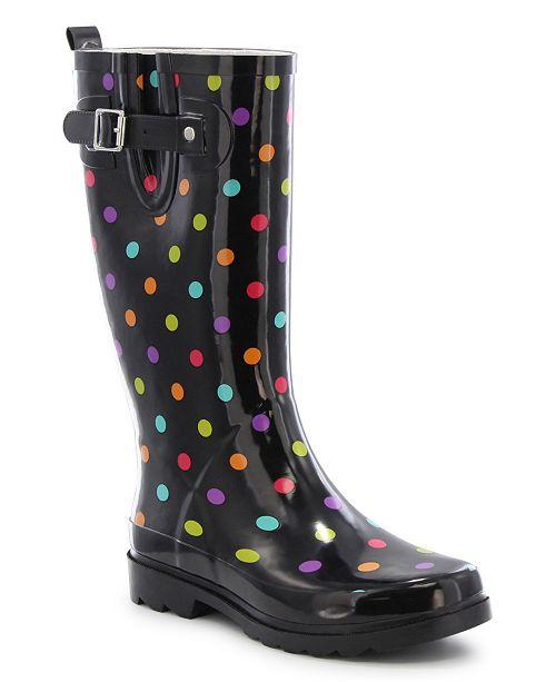 Western Chief Women's Regular Printed Tall Rubber Rain Boots