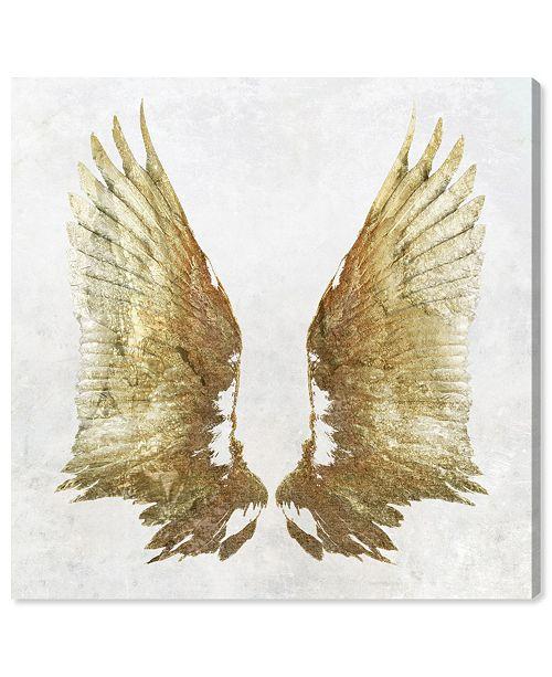 "Oliver Gal Golden Wings Light Canvas Art, 24"" x 24"""