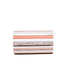 Striped Shell Clutch