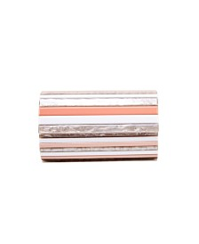 Like Dreams Striped Shell Clutch