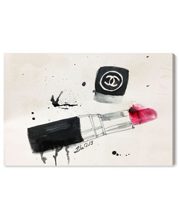 """Oliver Gal Lipstick Stains Canvas Art, 24"""" x 16"""""""
