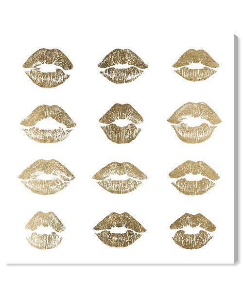"""Oliver Gal 24K Kisses Canvas Art, 36"""" x 36"""""""