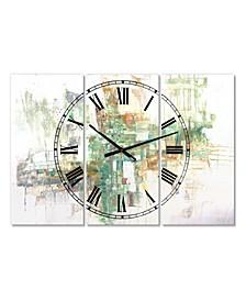 """Personality Large Modern 3 Panels Wall Clock - 23"""" x 23"""" x 1"""""""