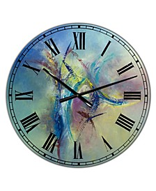 "Focused Intention Large Modern Wall Clock - 36"" x 28"" x 1"""