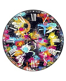 "the Lovers the Dreamers & Me Oversized Modern Wall Clock - 36"" x 28"" x 1"""