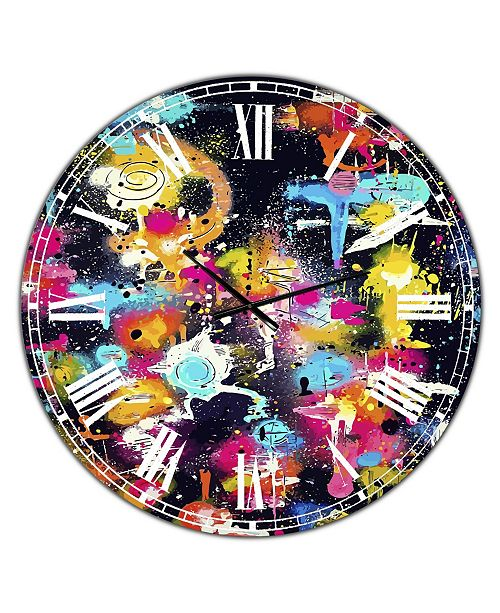 "Designart the Lovers the Dreamers & Me Oversized Modern Wall Clock - 36"" x 28"" x 1"""
