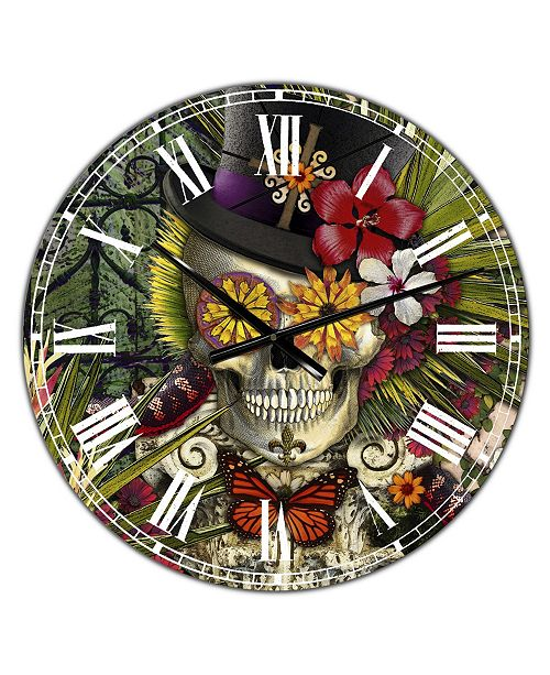 "Designart Baron in Bloom Oversized Modern Wall Clock - 36"" x 28"" x 1"""