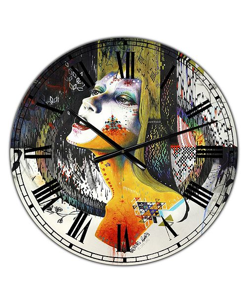 "Designart Between Hope and Despair Large Modern Wall Clock - 36"" x 28"" x 1"""