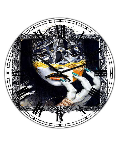 "Designart Urban Lady Style Oversized Modern Wall Clock - 36"" x 28"" x 1"""