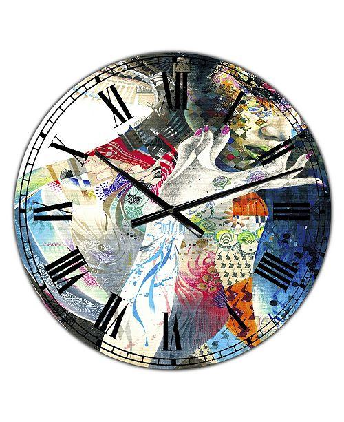 "Designart Urban Beauty Wondering Large Modern Wall Clock - 36"" x 28"" x 1"""