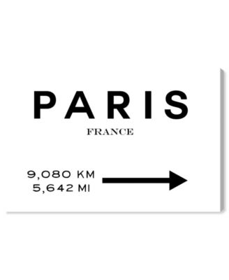 21016 Paris Road Sign Canvas Art, 45