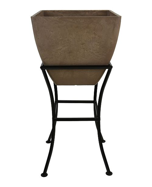 """RTS Home Accents 16"""" Square Planter with Stand"""