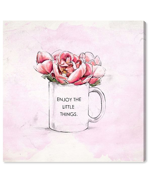 """Oliver Gal Enjoy The Little Things Canvas Art, 16"""" x 16"""""""