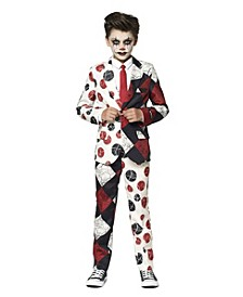 Big Boys Retro Clown Halloween Suit