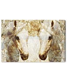 "Gold Stallions Canvas Art, 24"" x 16"""