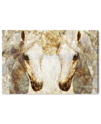 Gold Stallions Canvas Art, 36