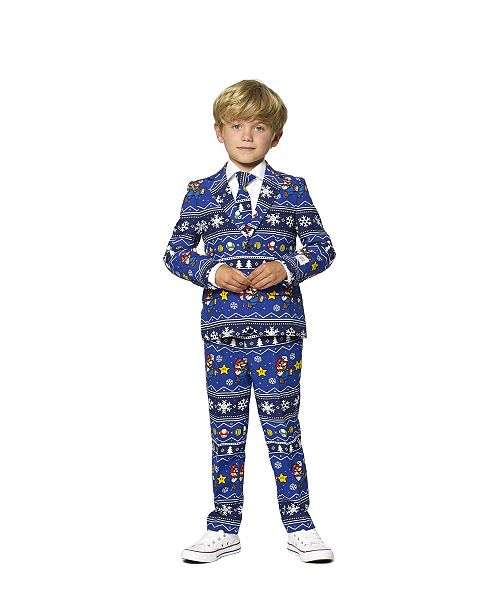 OppoSuits Toddler Boys Merry Mario Christmas Suit