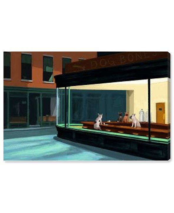 "Oliver Gal Carson Kressley - Night Dogs Canvas Art, 24"" x 16"""