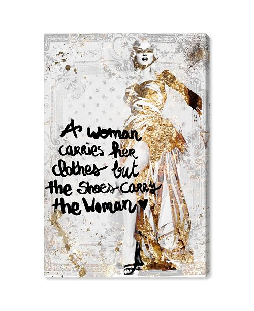 "Oliver Gal The Shoe Carries The Woman Canvas Art, 16"" x 24"""