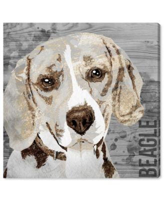 Love My Beagle Canvas Art, 24