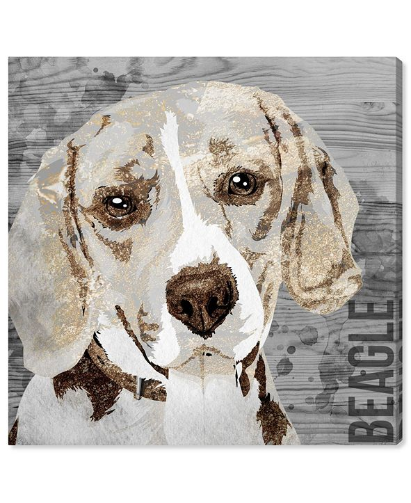 "Oliver Gal Love My Beagle Canvas Art, 16"" x 16"""