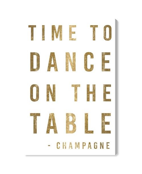 """Oliver Gal Time To Dance Gold Metallic Canvas Art, 24"""" x 36"""""""