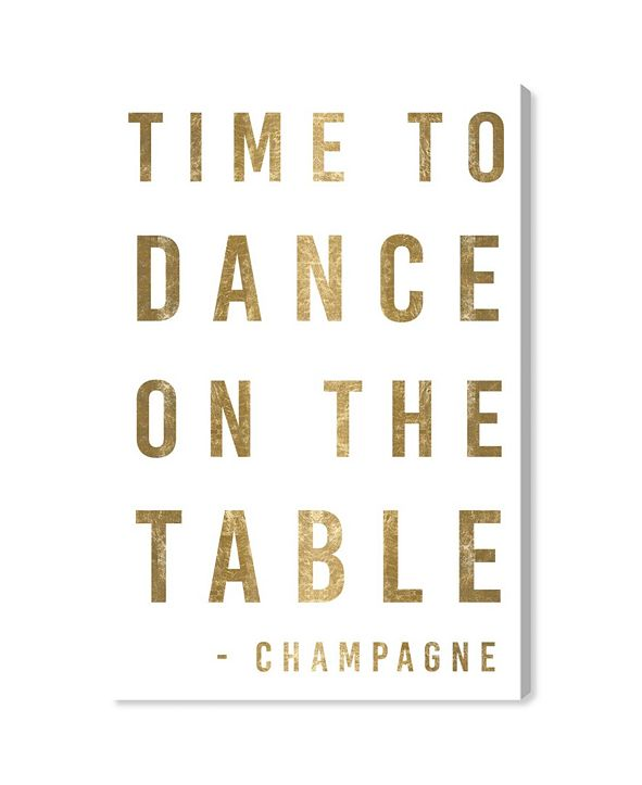"Oliver Gal Time To Dance Gold Metallic Canvas Art, 24"" x 36"""