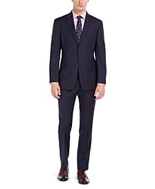 Men's Modern-Fit THFlex Stretch Navy Pinstripe Suit Separates