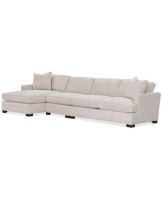 Juliam 3-Pc. Fabric Sofa with Chaise, Created for Macy's