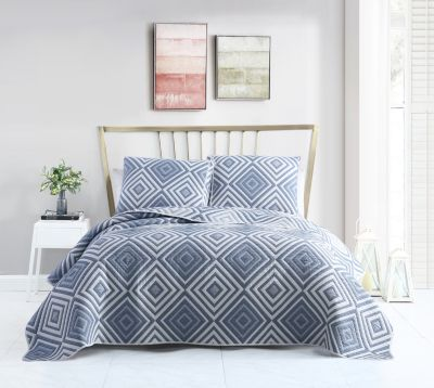 Nevin Matelassé Diamond 3-Pc. Full/Queen Quilt Set