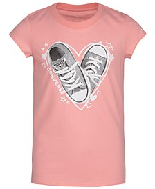 Big Girls Cotton Sneaker Heart T-Shirt