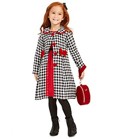 Little Girls 2-Pc. Velvet Dress & Houndstooth Jacket Set