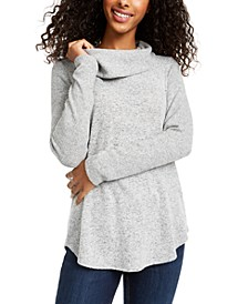 Juniors' Cowlneck Knit Sweater