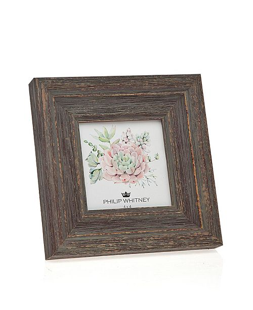 "Philip Whitney Taupe Wood Frame - 4"" x 4"""