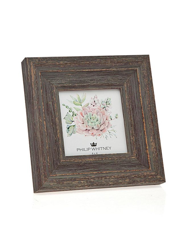 """Philip Whitney Taupe Wood Frame - 4"""" x 4"""""""