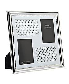 """Silver Polish W Bead Frame - 4"""" x 6"""""""