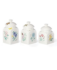 Lenox Butterfly Meadow Kitchen 3 Piece Canister Set, Created for Macy's