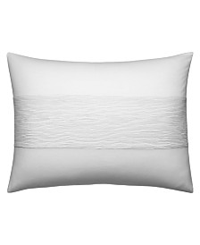 Vera Wang Ghost Flower Banded Horizontal Texture Breakfast Pillow